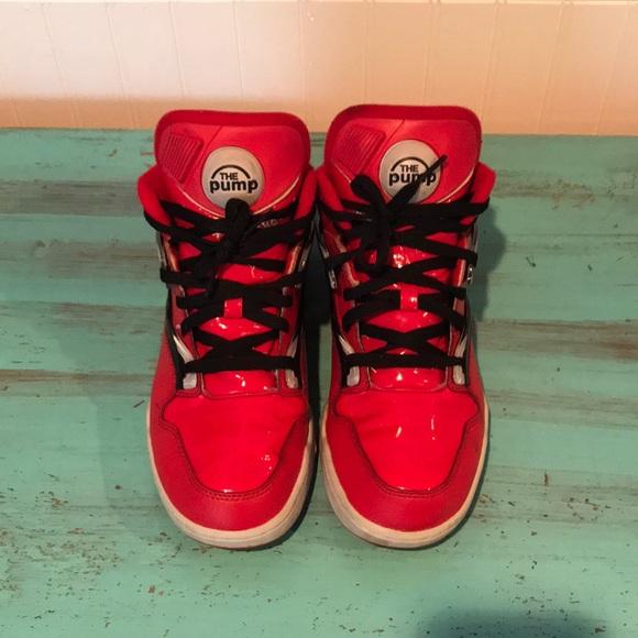 e31352828d36 Red Reebok Pump Sneakers. M 5a97283d9cc7ef064e31baae